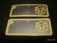 2 AUTHENTIC FEDERAL BMX BICYCLE FRAME STICKERS / DECALS #12 AUFKLEBER