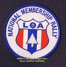 "LMH PATCH Badge  LOA NATIONAL MEMBERSHIP RALLY  Loners America RV CAMPING 3-1/2"""