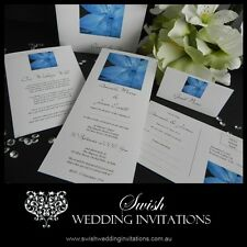 Blue Lily Wedding Invitations & Stationery - Samples Invites ONLY $1