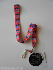 Hello Kitty Lanyard Polka Dot Glasses Red Bow Key Chain Keychain Sanrio NWT