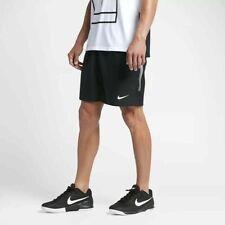 "Nike Court Dry 9"" Tennis Shorts Black White Dri-Fit 830821 - Mens Xl - Wow!"