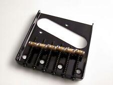 Black Tele Telecaster Vintage Style Bridge with Individual Brass saddles