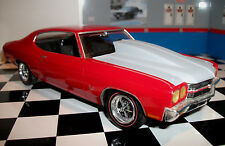 Resin Outlaw Hood '70 and '72 Chevelle SS.  AMT 1/25. Includes Jack Reacher.
