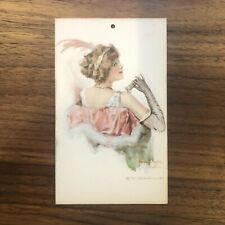 Beautiful - Vintage Woman Art Deco - BOOKMARK Gibson ART Signed