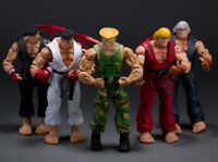 "Game Street Fighter Ken Ryu Guile 7"" Action Figure Player Select Survival NECA"