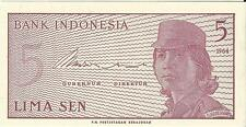 INDONESIA 1964 5 SEN BANKNOTE MINT