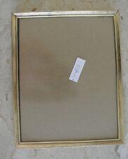 "Vtg Gold Metal Color Picture Frame 10"" by 8"" 23"