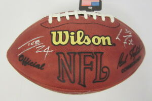 Pittsburgh Steelers Ben Roethlisberger TEAM signed SB XL Official football UDA