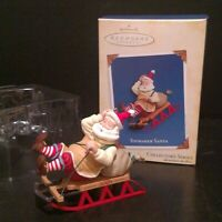 Hallmark Keepsake Ornament 2005 Toymaker Santa Sledding T14