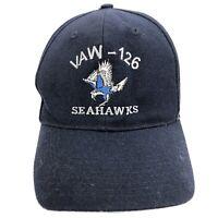 VAW - 126 SEAHAWKS Blue Snapback Baseball Hat Embroidered