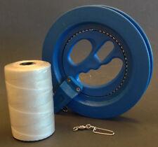 Kite Reel + Lock + 500-ft. 100-lb. Test Polyester Braided Line + Swivel Hook