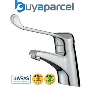 Commercial Sequential Thermostatic Basin Mixer Tap 150mm long Lever TMV3 WRAS