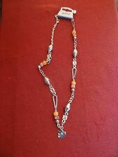 Necklace. Large Charm Bead design Orange
