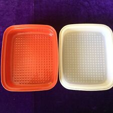 Vintage Tupperware Season N Serve Large Paprika Meat Marinade Container 1294-7
