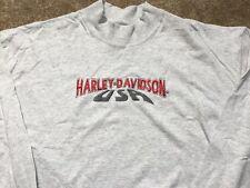 Harley Davidson USA Long Sleeve light gray Mock Shirt Nwt Men's Medium