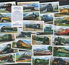 "GLENGETTIE TEA 1966 SET OF 25 ""TRAINS OF THE WORLD"" RAIL LOCOMOTIVE TEA CARDS"