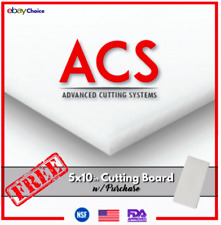 🇺🇸 Commercial Cutting Board Set Large White Plastic Cutting Boards 18x24x1/2