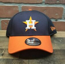 Men's New Era 39Thirty Houston Astros MLB Blue/Orange Cap Sz M/L