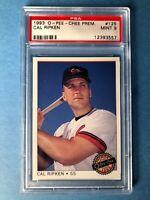 1993 Cal Ripken O-Pee-Chee Prem. PSA 9 Baseball Card #125 Baltimore Orioles HOF