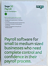 Sage 50 Payroll HMRC Accounts Software 15 Employees NEW Genuine Sealed Windows