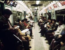 Photo. 1973-4. New York City. Commuters Riding Lexington Ave Subway