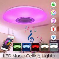 48W LED Dimmbar Bluetooth Lautsprecher Deckenleuchte APP Steuerung alexa google