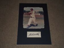 HOF EDDIE MATHEWS SIGNED AUTOGRAPHED MATTED CUT SIGNATURE 11X17 DISPLAY BRAVES
