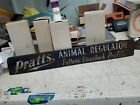EARLY PRATTS FEEDS POULTRY LIVESTOCK COW PIG CHICKEN FARM METAL SIGN door push