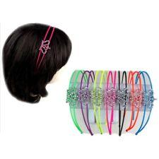 5pcs Women Metal Rhinestones Wire Headband Hairband Bobby Pins Comb Clips Coil