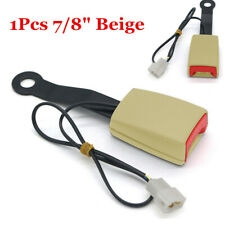 "1x 7/8"" Beige Safety Seat Belt Buckle Warning Cable Kit Universal For Car Truck"