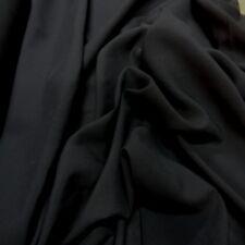 rouleau de 30m de tissu viscose noire uni