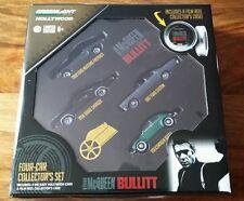 Greenlight Hollywood-Bullit: conjunto de coleccionista de carrete de película de Coche Edición Limitada 1:64