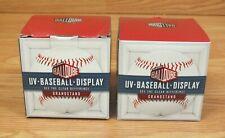Lot of 2 Original Ballqube Uv Baseball Display Cases in Box *Read*