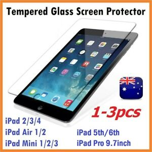 1-3pc Scratch Resist Tempered Glass Screen Protector for iPad 234 5/6th Air Mini