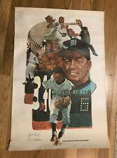 Al Kaline 1960's poster 20 x 30 Lincoln-Mercury Sports Panel, Detroit Tigers HOF