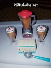 American girl doll official milkshake set retired blender scoop ice cream more