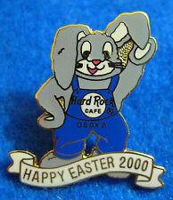 OSAKA EASTER RABBIT BUNNY 2000 BLUE OVERALLS BIG EARS Hard Rock Cafe PIN LE