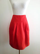 Country Road size 4 red linen & silk lined skirt