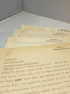 Ur-Schrift Vortrag beim Oberbefehlshaber der Luftwaffe - Geheime Kommandosache