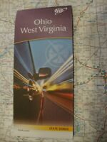 AAA NEW OHIO / WEST VIRGINIA STATE Travel Road Map Vacation 2018-2019 FREE SHIP!