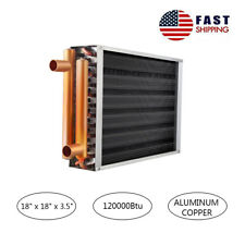 "Ab Water to Air Heat Exchanger 18x18 1"" Copper Ports Outdoor Wood Furnace"