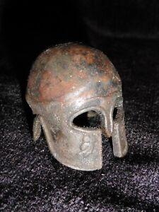 Miniature Bronze Greek Corinthian Warriors Helmet