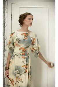 Anthropologie ANNA SUI Jonquil Sky Dress Size 10