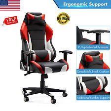 Computer Gaming Chair Ergonomic SwivelRacing Seat Leather Executive Chair 300Lbs