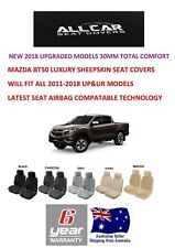 Sheepskin Car Seatcovers for Mazda BT50, Five colours, Seat Airbag Safe 30mm TC