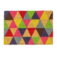 Nicola Spring Triangles Design Non-slip Coir Door Mat 90 X 60 Cm - PVC Backed