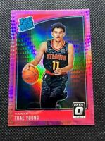 2018-19 Panini Donruss Optic Trae Young Pink Hyper Prizm Rated Rookie Rc