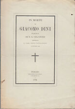 LUCIGNANO NECROLOGIO IN MORTE DI GIACOMO DINI PAROLE DI F.S. ORLANDINI 1864