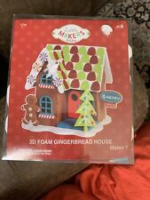 Creatology Christmas Gingerbread House 3D Foam Kit Glitter Stickers 205 Pieces