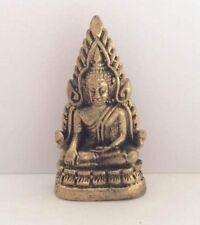 Statuette Figur aus messing Amulett Klein BUDDHA Thailand b14